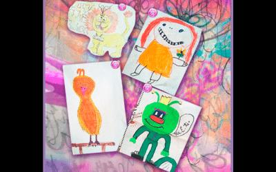 My whimsical, imaginative and creative childhood art